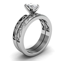 AMAZING 1.20CT WHITE ROUND STUD 925 STERLING SILVER ENGAGEMENT AND WEDDING RING