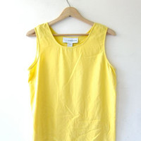 silk tank top / yellow silk camisole