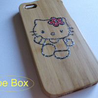 iPhone 5 Case Bamboo, iPhone 5s Case Wood, iPhone 5 Case, hello kitty iPhone 5 Case