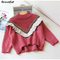 Korean Baby Girl Autumn Winter Clothes Girls Sweaters And Tops Children Clothing Outerwear Kids Clothes