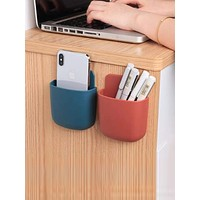 1pc Wall Mount Solid Storage Box