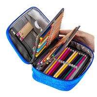 Canvas School Pencil Cases for Girls Boy Pencilcase 72 Holes Pen Box Penalty Multifunction Storage Bag Case Pouch Stationery Kit