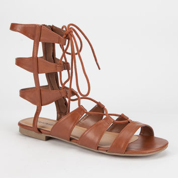 CITY CLASSIFIED Mid Height Ghillie Womens Gladiator Sandals | Sandals