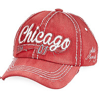 River Island Boys red Chicago cap
