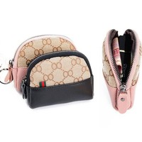 Brand shell bag Luxury Fashion 100% Leather Coin Purse Lady Credit Card Holder Female Wallet