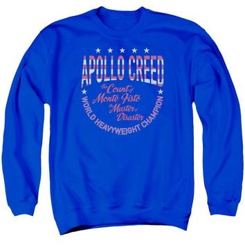 Rocky Sweatshirt Apollo Creed Heavyweight Champion Royal Pullover