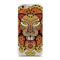 Clear Snap-On case for iPhone 6/6S - Ethical Lion - Tribal Lion (C) Andre Gift Shop