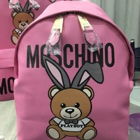 MOSCHINO WOMEN'S LEATHER BACKPACK BAG
