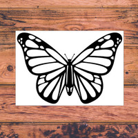 Preppy Butterfly Decal | Butterfly Monogram Decal | Sassy Country Southern Butterfly Decal | Butterfly Car Decal  | 264