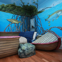 Deep Sea Shipwreck Bed and Mural