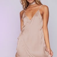 Banks Wrap Dress Camel