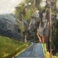 NICASIO ROAD - 6 x 8 - Oil Painting - Original - Landscape - Point Reyes Seashore - Home Decor - California Coast - Coastal - Beach Home
