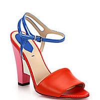 Fendi - Fantasia Colorblock Mixed Leather Sandals - Saks Fifth Avenue Mobile