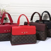 DCCK6HW Louis Vuitton' Fashion Classic Multicolor Retro Logo Print Women Handbag Single Shoulder Messenger Bag