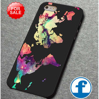 World Map Galaxy for iphone, ipod, samsung galaxy, HTC and Nexus phone case