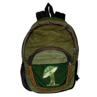 Groovy Mushroom Corduroy Backpack on Sale for $44.95 at HippieShop.com