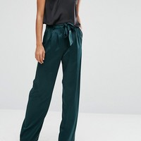 ASOS Soft Luxe Pant with Tie Belt at asos.com