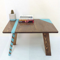 Mid Century Modern Tables, Midcentury Bedside Table, Scandinavian Table, Retro Nightstand, Coffee Table, Turquoise Table