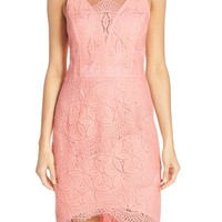 Adelyn Rae Lace High/Low Sheath Dress | Nordstrom