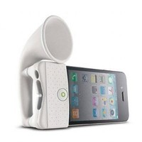 Silicon Amplifier/dock for Apple Iphone 4 White