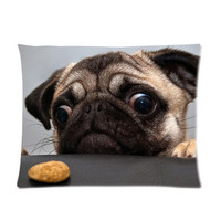 Pug Dog Custom Pillowcase Standard Size 20x26