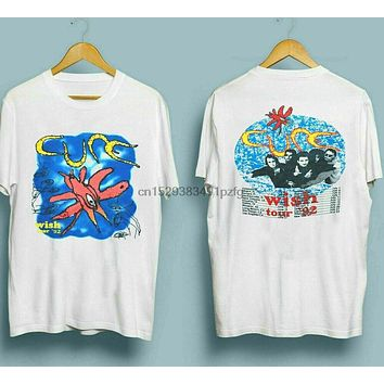 Vintage 1992 The Cure Wish Tour T Shirt 90s Band Tee Robert Smith TOP Quality|T-Shirts