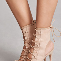 Pointed Lace-Up Stilettos