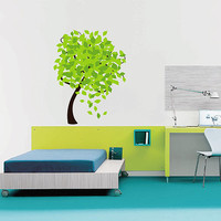 kcik174 Full Color Wall decal tree foliage branch children's bedroom