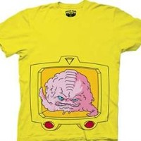 Teenage Mutant Ninja Turtles Krang Brain Yellow Mens T-shirt - Teenage Mutant Ninja Turtles - | TV Store Online