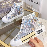Christian Dior new letter print men's and women's high-top sneakers Shoes #6