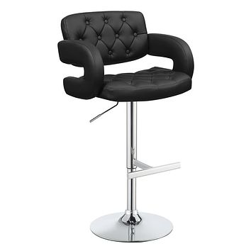 G102550 - Faux Leather with Chrome Adjustable Bar Stools - Black, Brown or White