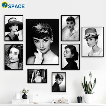 Audrey Hepburn Sexy Woman Canvas Painting Wall Art Print Nordic Poster Pop Art Decoration Pictures For Living Room Salon Decor