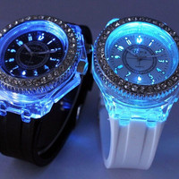 Casual Rhinestone Jelly Watch