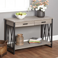 Grey Sofa Table Modern Century Furniture Vintage Style Simple Living