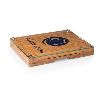 Penn State Nittany Lions - Concerto Glass Top Cheese Cutting Board & Tools Set, (Bamboo)
