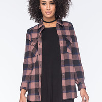 Rvca Wanted Womens Flannel Shirt Black Combo  In Sizes