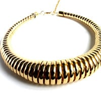 """aCORDing To Plan"" Gold Choker Necklace"
