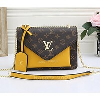 LV retro print ladies fashion messenger shoulder bag