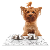 """Will Wild """"Marble"""" White Gray Dog Place Mat"""