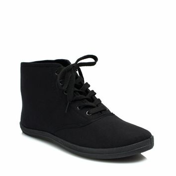 Basic Lace-Up High-Top Sneakers - GoJane.com