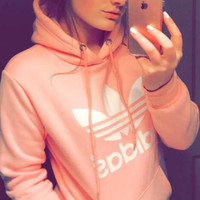 "shosouvenir : ""Adidas"" Women Fashion Hooded Top Sweater Pullover Sweatshirt"