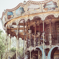 Pink Carousel In Paris by Pati Photography