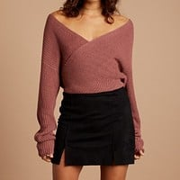 Final Sale - Cotton Candy LA - Crossfire Sweater in Mauve