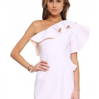 Endless Rose Ruffle One Shoulder Dress