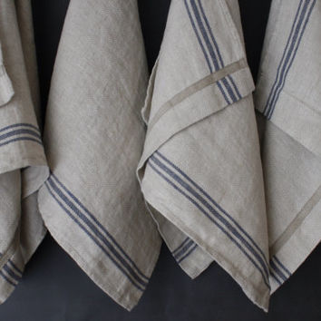 French Linen Tea Towel Rustic Country From Mooshop On Etsy