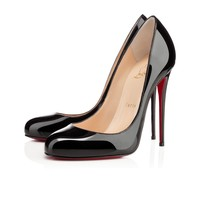 Fifi 120mm Black Patent Leather