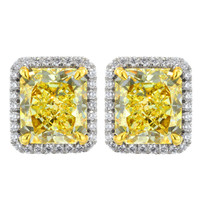 4.77ctw Natural Fancy Yellow Diamond Earrings