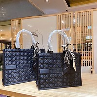 Dior Lingge Fashionable All Match Low Key Handsome Street Style Shopping Bag