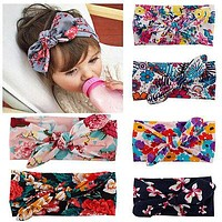 Kids Girls Baby Headband Toddler Bow Flower Hair Band Accessories Head wear