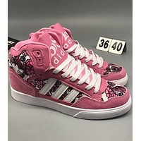 ADIDAS 2018 New Year's Tide Fashion High Top Stylish Sneakers F-CSXY pink